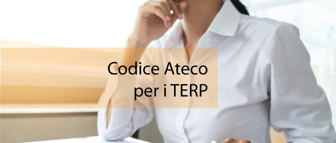 CODICE ATECO PER I TERP