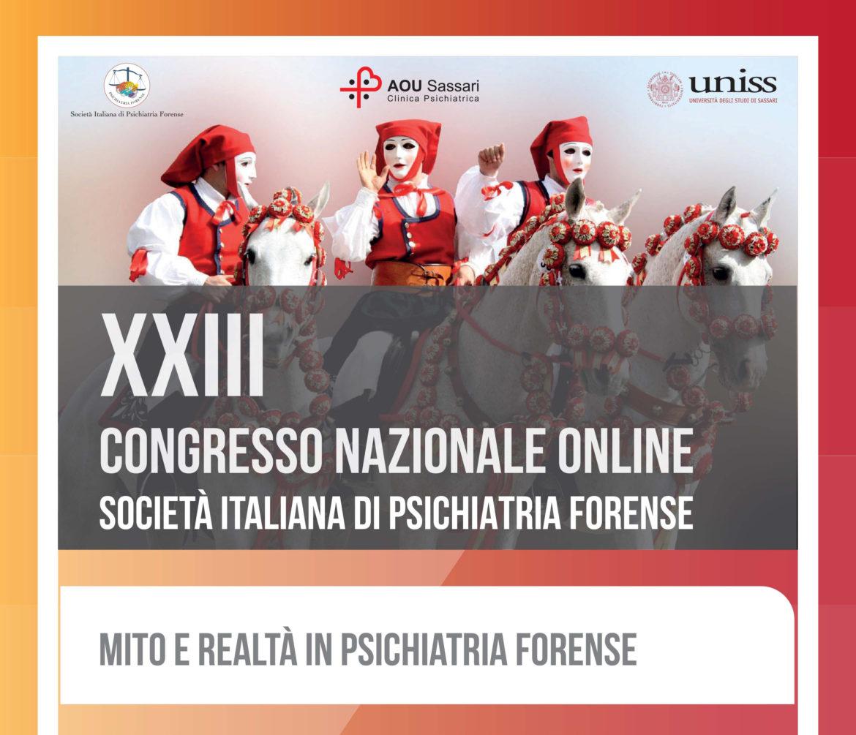 XXIII Congresso Nazionale Online – Società Italiana di Psichiatria Forense
