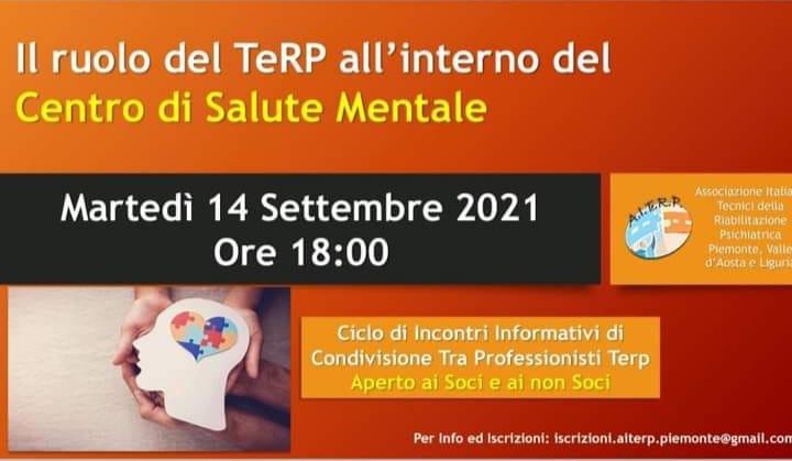 Il ruolo del TeRP all'interno del Centro di Salute Mentale